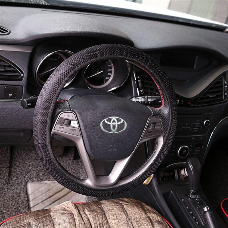 Black Ice Silk Steering Wheel Skid Cover Car High Quality Car Steering Wheel Cover Interior Accessories