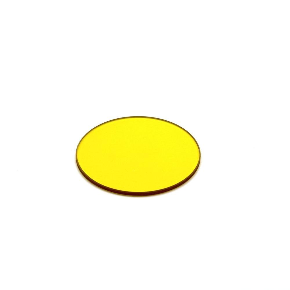 10 قطعة إجمالي قطر مستدير 25 مللي متر اللون الأصفر تصفية 510nm IR تمرير تصفية الزجاج JB510 GG515