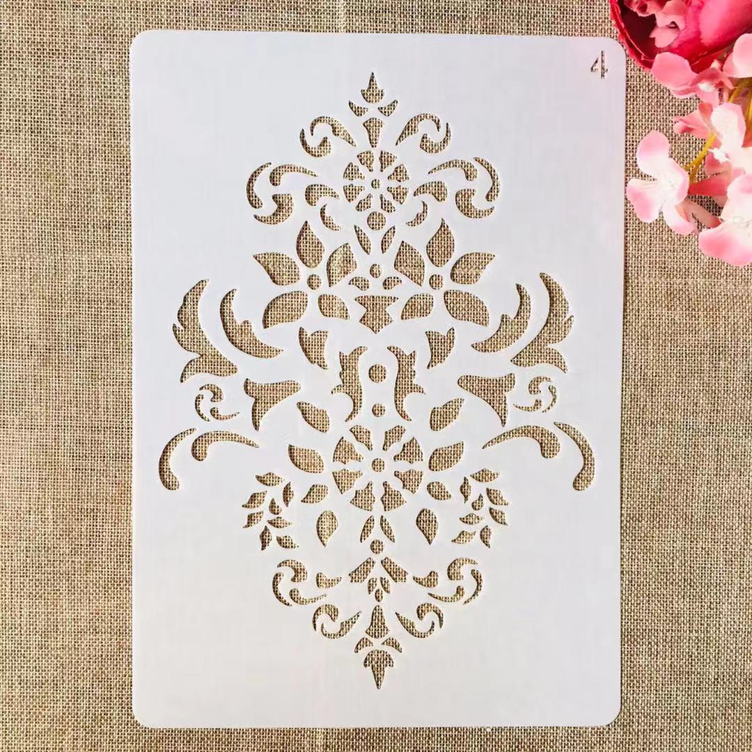 1Pcs A4 29*21cm Blume Symbol DIY Schichtung Schablonen Malerei Sammelalbum Färbung Präge Album Dekorative Vorlage