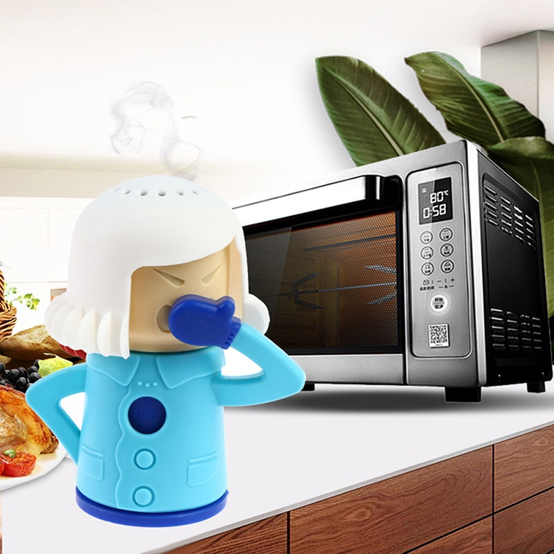 Angry Mama Microwave Oven Cleaner Steam Clean Kitchen Gadget Cooking Tool
