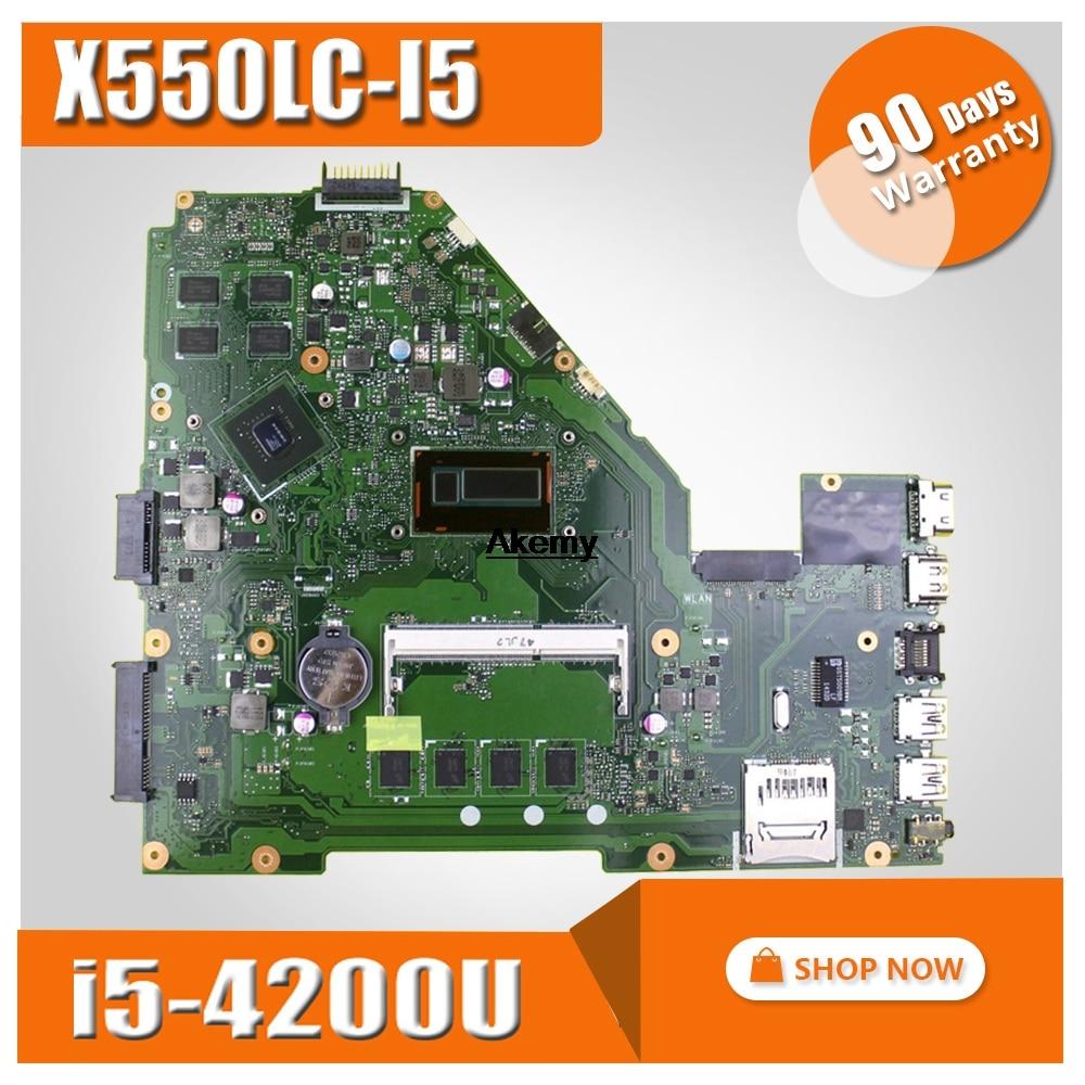 X550LC płyta główna 2g/I5-4200U GT720M dla For Asus X550LC X550LD A550L Y581L W518L X550LN laptopa płyty głównej płyta główna w X550LC płyty głównej płyta główna