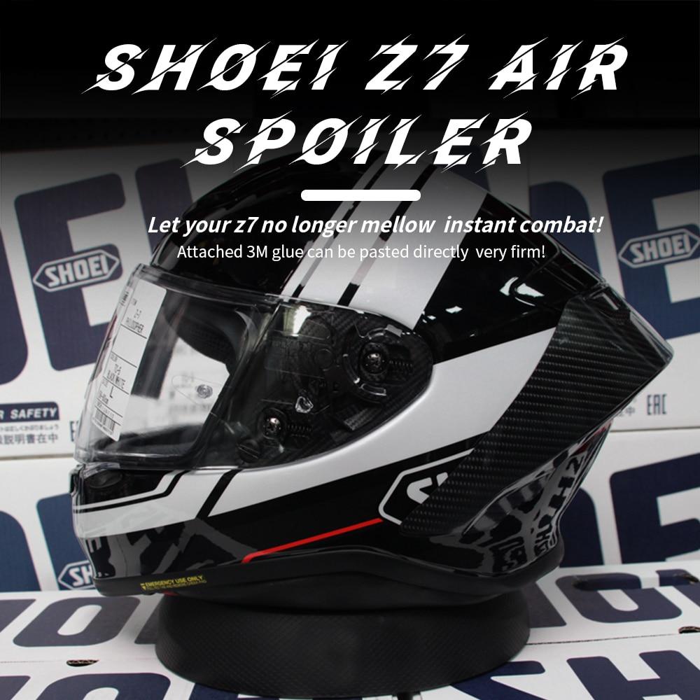 Carbon Motorcycle Rear Trim Helmet Spoiler Case For SHOEI Z7  NEW Z8 Accessories