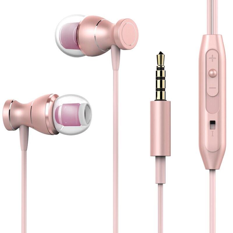 Para iphone samsung xiaomi mengyu ímã metal fone de ouvido baixo pesado som anti-suor esporte fone de ouvido com microfone handsfree fones quente