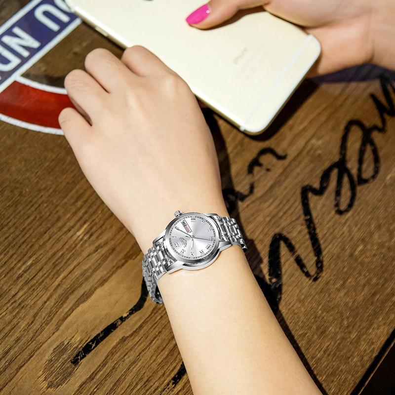 LIGE Lady Fashion Watch Women Quartz Watch Women's watches Date Week Stainless Steel Female Dress Clock xfcs relogio feminino enlarge