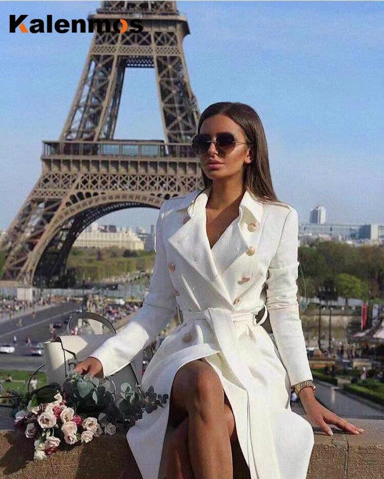 Gabardina gruesa reflectante para Mujer, chaqueta Coreana de Invierno, Otoño e Invierno