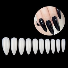 Nouveau 100 pièces + 500 pièces Nail Art conseils faux ongles naturels Capsule Ongle forme damande pointe tête acrylique couverture complète longs faux ongles