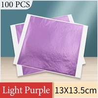13x13 5cm 100pcs purple foil paper gold leaf sheet in arts and crafts furniture nail decorations painting pota