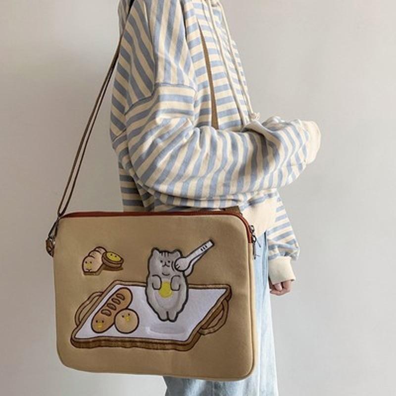 Ipad pouch women cute pro11 air4 10.9 10.8 10.5 air3 10.2 air1/2 9.7 surface go tablet sleeve case bag 13 inch laptop bag