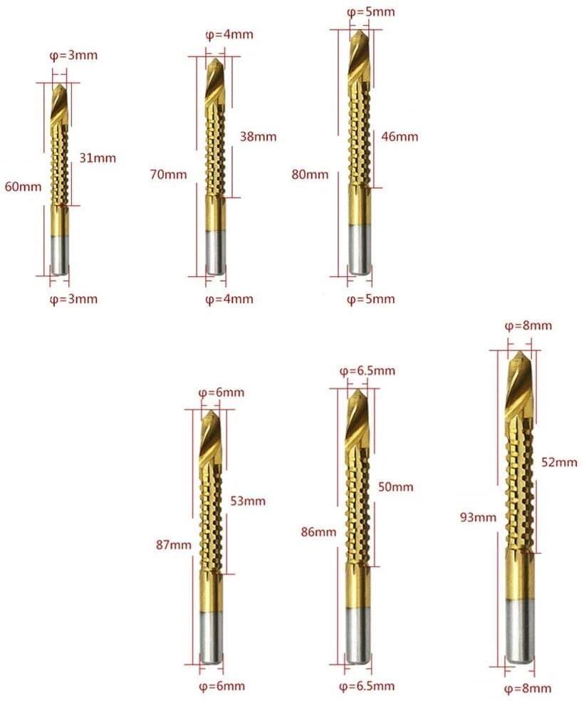 6pcs / set set di punte per trapano al cobalto, punta a spirale per - Punta da trapano - Fotografia 4