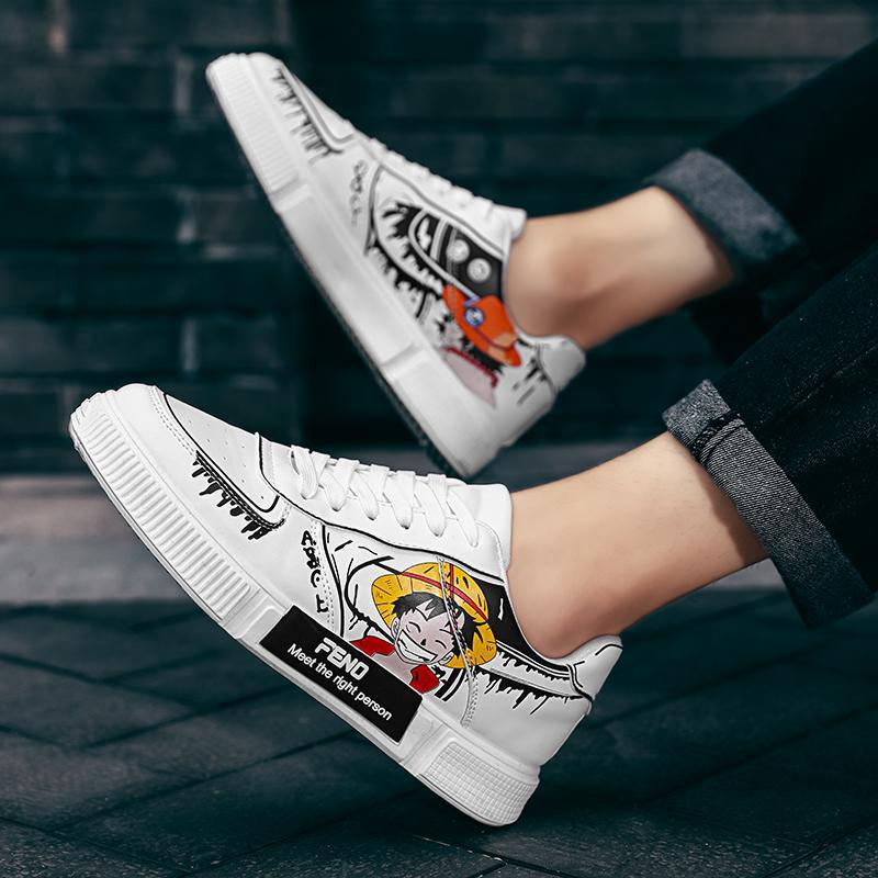 Men Women Shoes Piece Luffy Casual Sneakers Anime Hip Hop Shoes Unisex Casual Shoes Running Shoes Co
