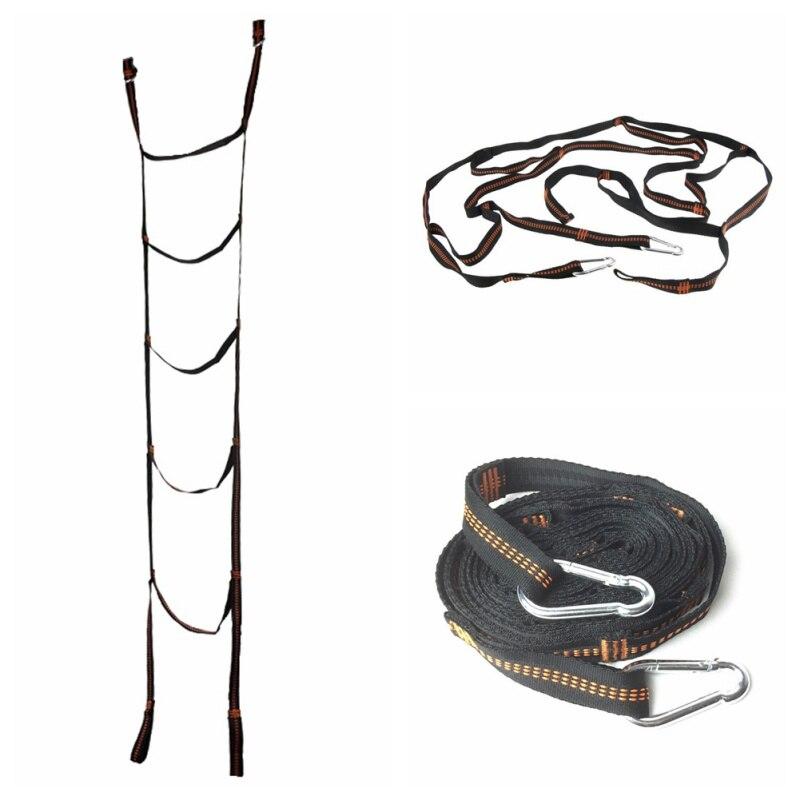Échelle descalade de ruban de sangle déchelle de corde de tente suspendue par tente molle extérieure darbre déchelle avec les mousquetons forts