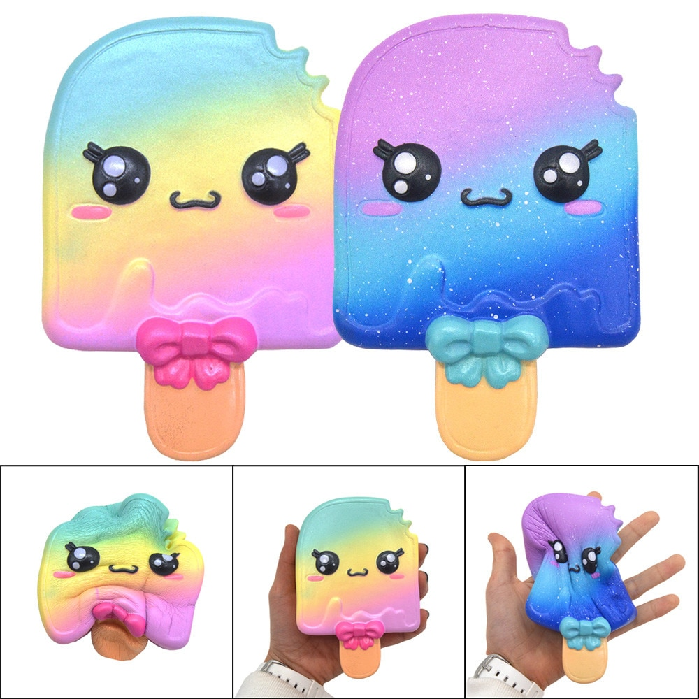 Fidget Toys Squeeze Squishy Toys Cute Starry Sky Popsicle Ice Cream Squishies Slow Rising Stress Reliever Anxiety Cure Toy W* enlarge
