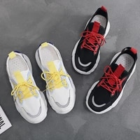 woman vulcanize shoes fly weave white shoes female breathable leisure running sneaker lace up shoes student fashion shoes re