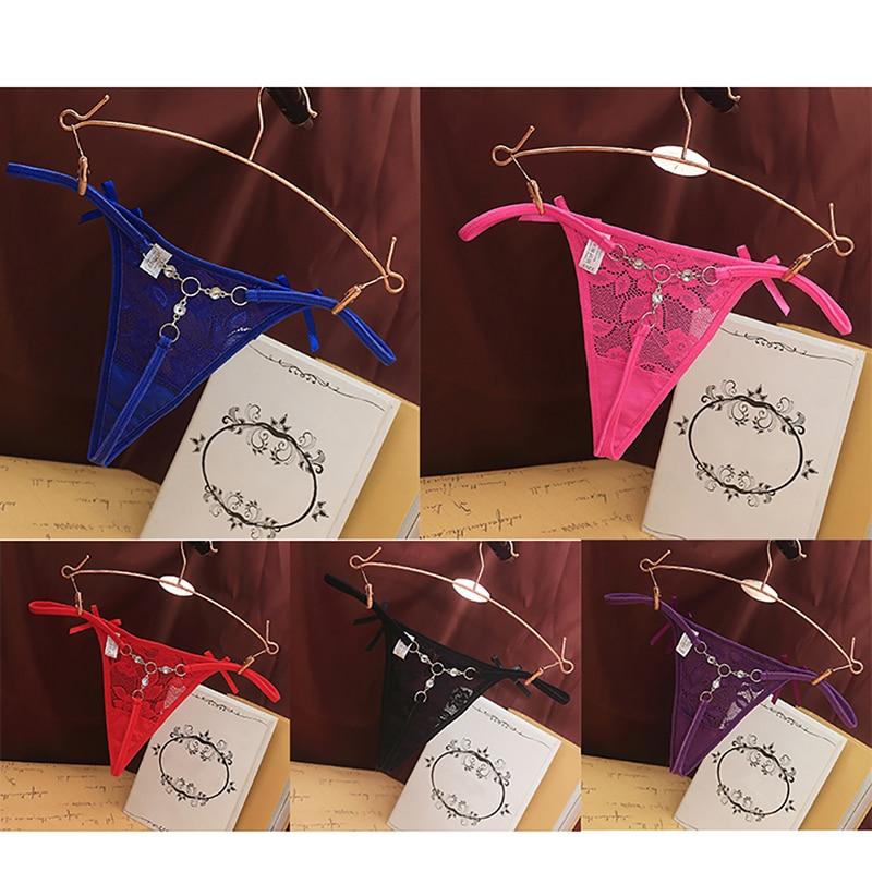 Calcinha de renda feminina g-string sexy transparente t-back underwear rendas flores cintura baixa briefs moda cuecas
