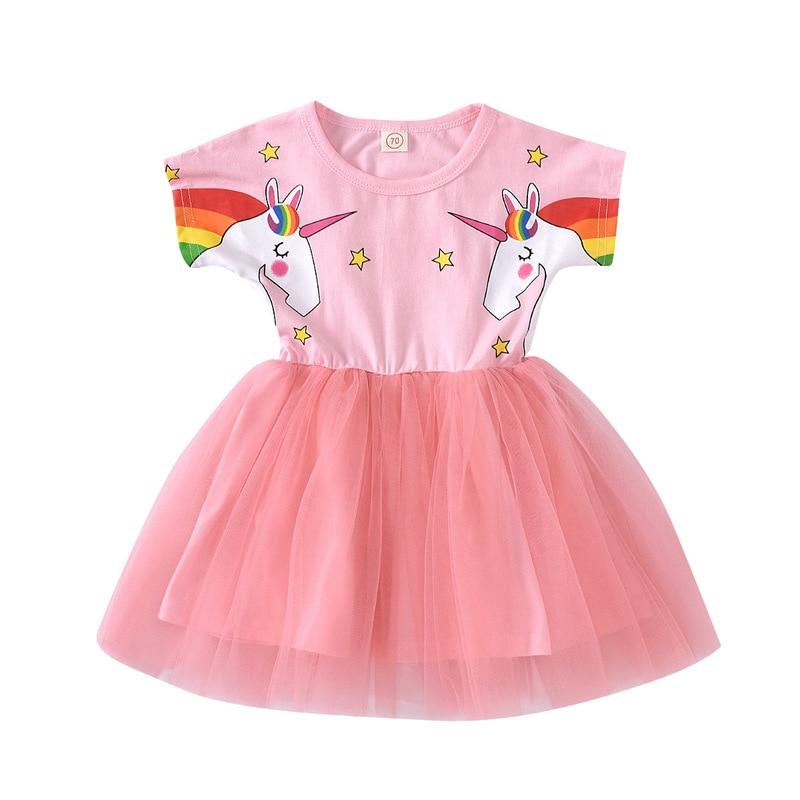 Kids Unicorn Dress for Girls Flower Vestido Ball Gown Little Girl Princess Dresses Elegant Party Costumes Children Clothing