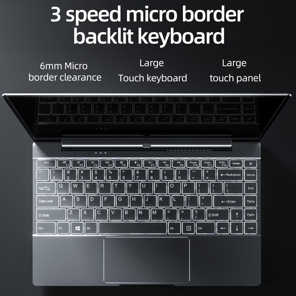 Dere V14S 14.1inch Laptop Intel Celeron N5095 DDR4 12GB RAM 512GB SSD Backlit Keyboard Windows 10 1920x1080 Computer PC Notebook