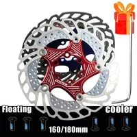 160 180 mm heat dissipation mtb mountain bicycle brake disc cooler cooling floating rotor 6 bolt mountain road bike part