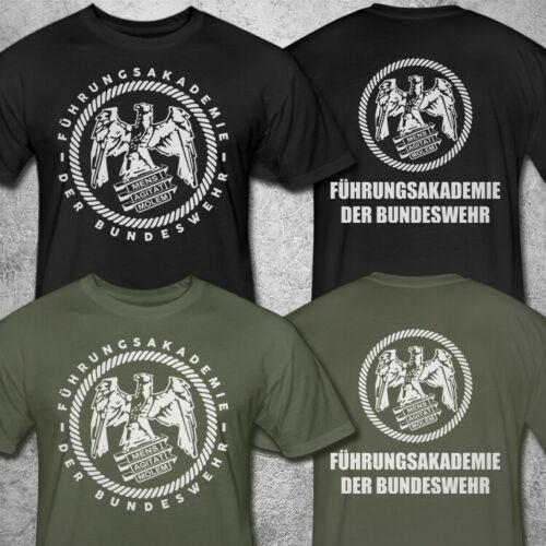 Новые мужские футболки Fuhrungsakademie Der бундесвра, Короткие повседневные хлопковые рубашки с круглым вырезом