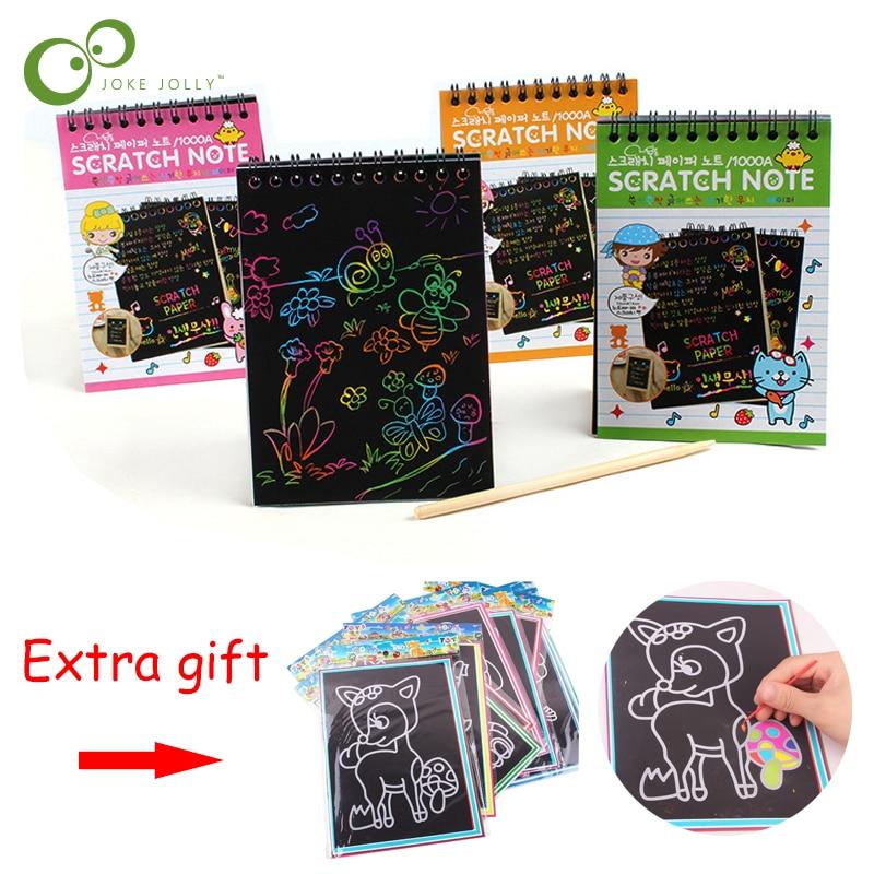 1Pc magique livre à gratter Art Doodle Pad sable peinture cartes début éducatif apprentissage créatif dessin jouets pour enfants ZXH