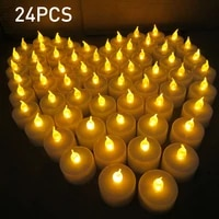 24pcs led candles warm white led flameless candles battery operated moving artificial tea light for wedding anniversary party
