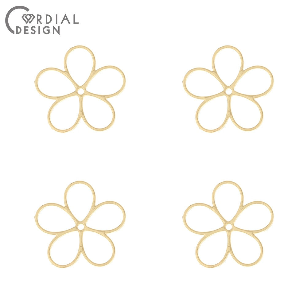 Design Cordial 100 pièces 22*22MM accessoires de bijoux/forme de fleur/bricolage/pendentif pour boucles doreilles/fait à la main/trouvailles de bijoux et composants