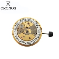 cronos mechanical movement sw200 date 3h gold self winding high precision watch parts replacement