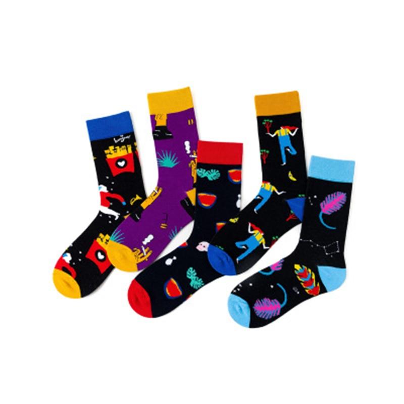 Носки для девочек, подчеркивающие женскую индивидуальность, уличные Стиль дым танцы перо картофель фри хлопчатобумажные баскетбольные фут...