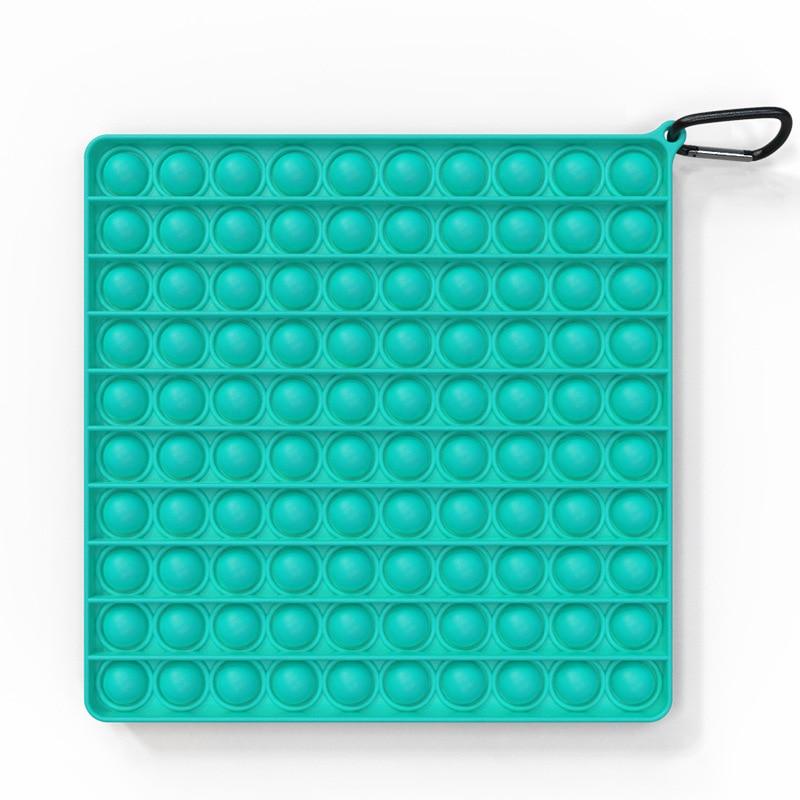 Big Size Fidget Toys Simple Dimple Square Antistress Rainbow Push Bubble Figet Sensory Squishy Jouet Pour Autiste Adult Kid Gift enlarge