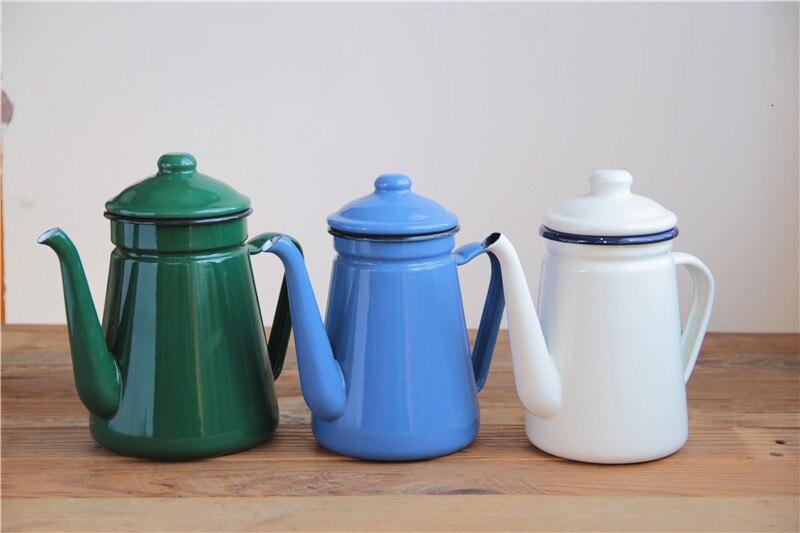 اليابانية مينا الخزف إبريق قهوة غلاية وعاء النبيذ الشاي براد مياه إبريق 1.1L