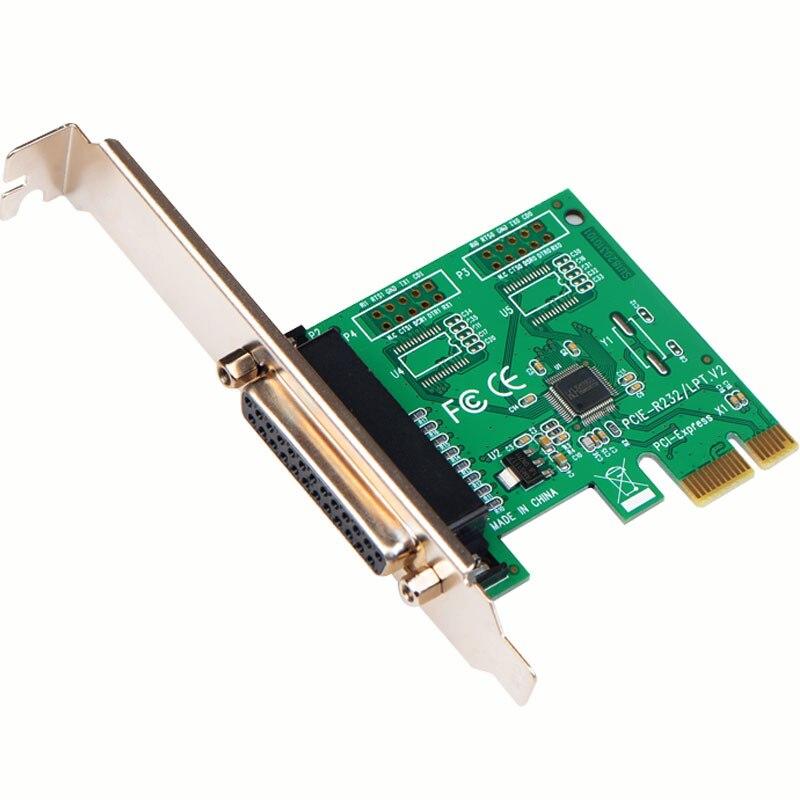 Escritorio PCI-E Tarjeta de puerto paralelo DB25 agujero PCI-E a interfaz de impresora tarjeta adaptador LPT puerto de tarjeta de expansión