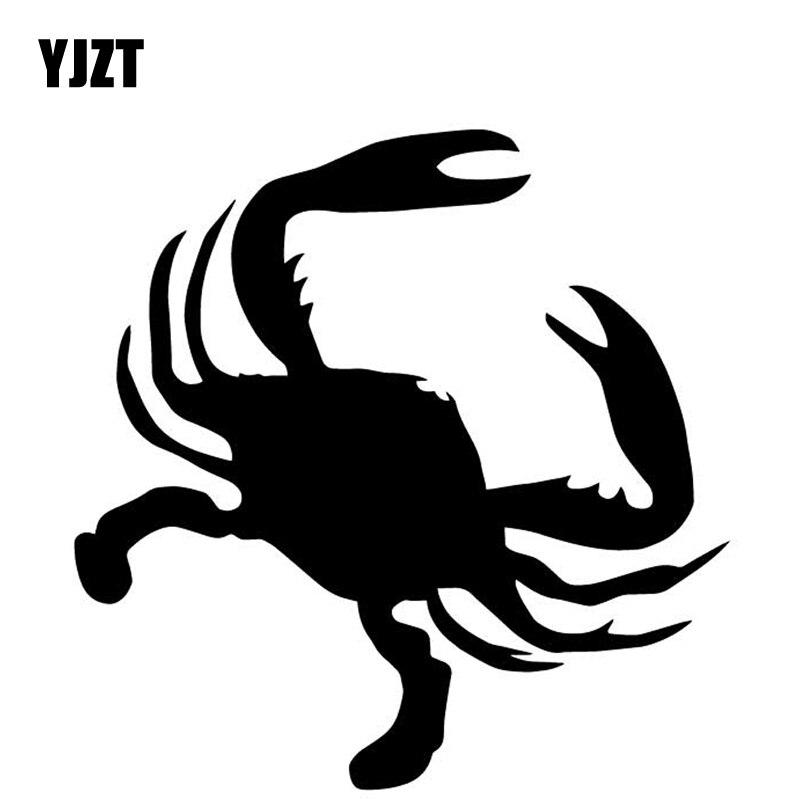 YJZT 15.8 CENTÍMETROS * 15.9 CENTÍMETROS de Caranguejo Decorar Etiqueta Do Carro Do Corpo De Carro de Vinil Decalque Padrão Preto/Prata C4-3041