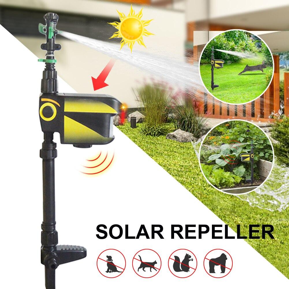 Arroseur solaire pour oiseaux, hydrofuge, pilote d\'arrosage pour chien/chat, répulsif pour vergers de jardin, capteur infrarouge
