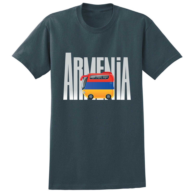 Armenia Flag Bus Travel Print T Shirt Men Women SIZES COLORS Tee Shirt Adults Casual Tops