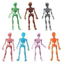 Squelette humain, m. Os, mobile, crâne, corps entier, Mini figurine, jouet pour Halloween