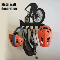 riding the bicycle frame wall key hook pattern storage shelf wall fittings for spectacles rider clothing wall decoration