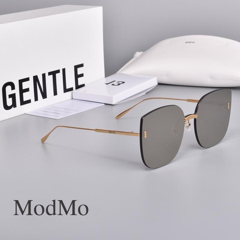 2020 موضة جديدة كوريا بدون إطار تصميم نظارات جنرال موتورز النظارات الشمسية النساء لطيف MODMO الرجال النساء النظارات الشمسية المستقطبة UV400 عدسة