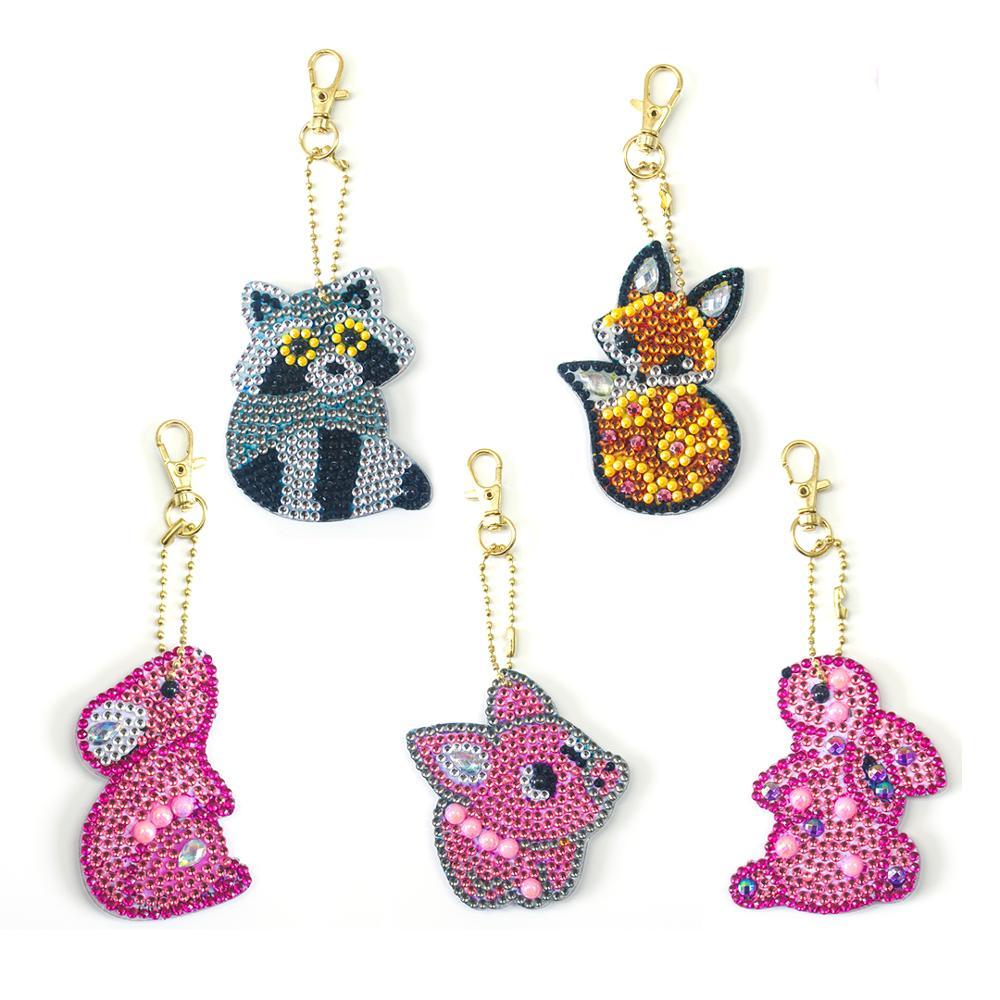 2020 новый стиль 5D животное DIY Алмазный брелок 5D алмазная картина сумка подвеска Украшение Розовый брелок для подарка