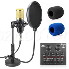 Профессиональный настольный микрофон bm 800 с фантомным питанием BM800, конденсаторный микрофон для ПК, компьютерная запись, микрофон с поп фильтром
