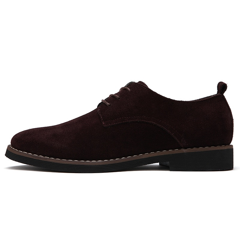 Men's Autumn New British Style Suede Oxford Shoes Black Brown Blue Classic Business Leather Men's Sports Shoes Size 38-48  - buy with discount