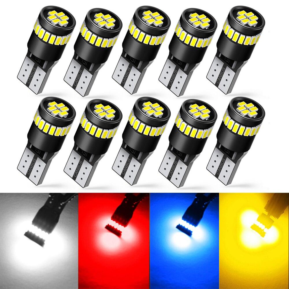 10x W5W T10 bombillas LED Canbus luces de aparcamiento para Ford Focus 2 3 MK2 MK3 MK4 Fiesta Fusion Kuga Ranger c-max s-max F150 Galaxy