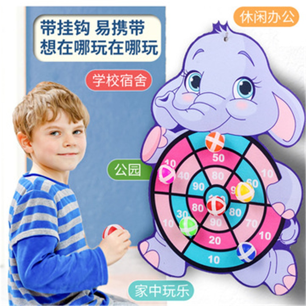 Target Sticky Ball Dartboard Creative Throw Party outdoor Sports indoor Cloth toys Educational Board games for kids Basketball