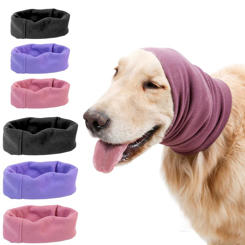 Pet Grooming Turban Dog Ears Cover Noise-Proof Earmuffs Dog Product Comfortable Keep Warm Isolate Noise Head Sleeve Pet Supplies