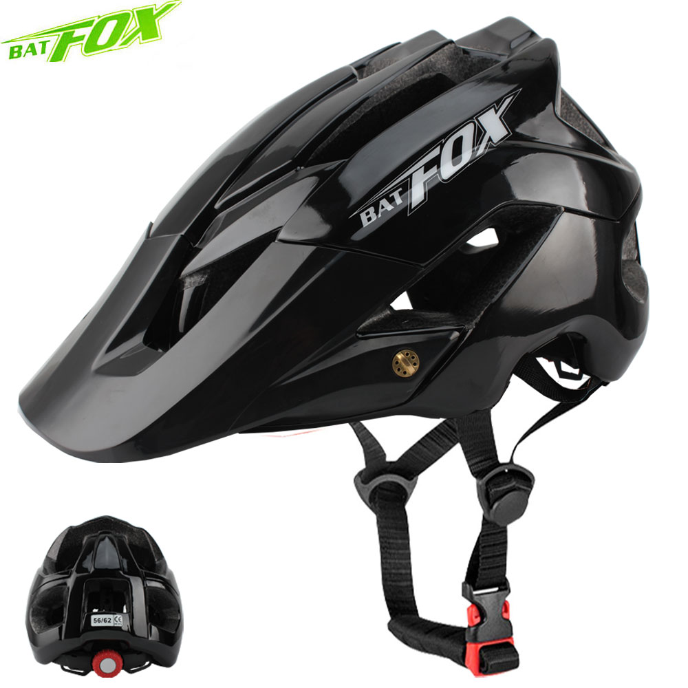 BATFOX bike helmet men women bicycle integrally-molded mtb helmets casco batfox casque velo cycling Size:M/L