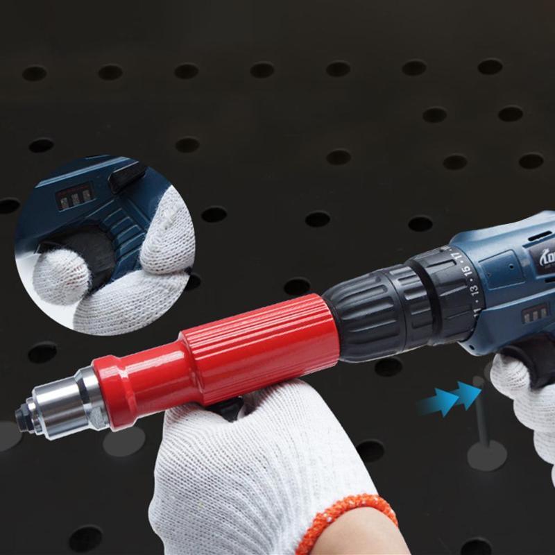 Remache eléctrico tuerca pistola herramienta remache inalámbrico remachador adaptador Kit mango pistola de clavos pistolas de tuerca remache de aluminio