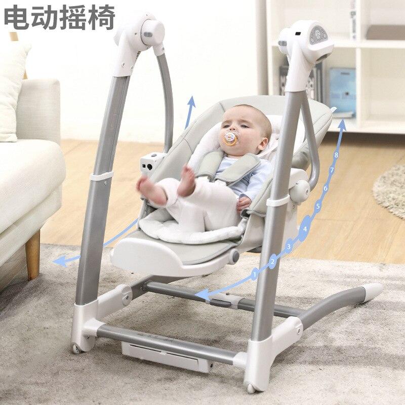Silla de comedor para niños, mecedora eléctrica, silla alta para bebé, cuna de balancín multifuncional para bebé, envío gratis
