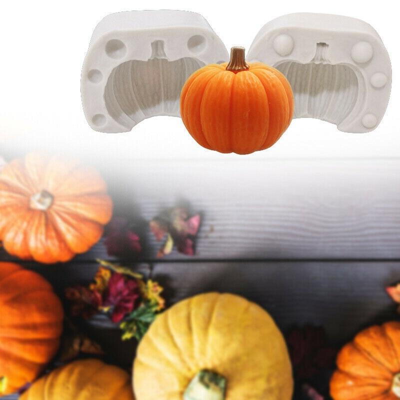 Molde de silicona tridimensional de calabaza de Halloween de alta calidad, herramienta para hornear dulces y galletas de Chocolate LG66