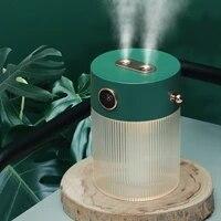 Humidificateur dair Portable Usb a Double brume de 650ML  huile essentielle pour la maison  avec lampe de nuit chaude  machine de brume deau pour voiture