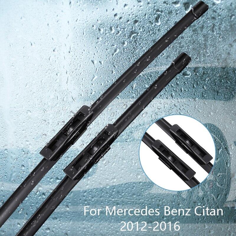 Escobilla limpiaparabrisas para Mercedes Benz Citan 2012 2013 2014 2015 2016 accesorios de coche para limpiaparabrisas de goma automático