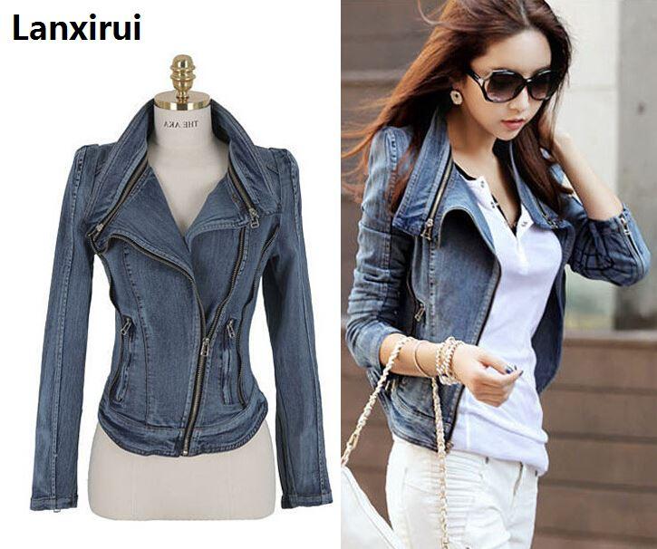 Женские винтажные джинсы, облегающие короткие куртки на молнии с отворотом, размеры S, M, L, Xl, Ss-W26, быстрая доставка