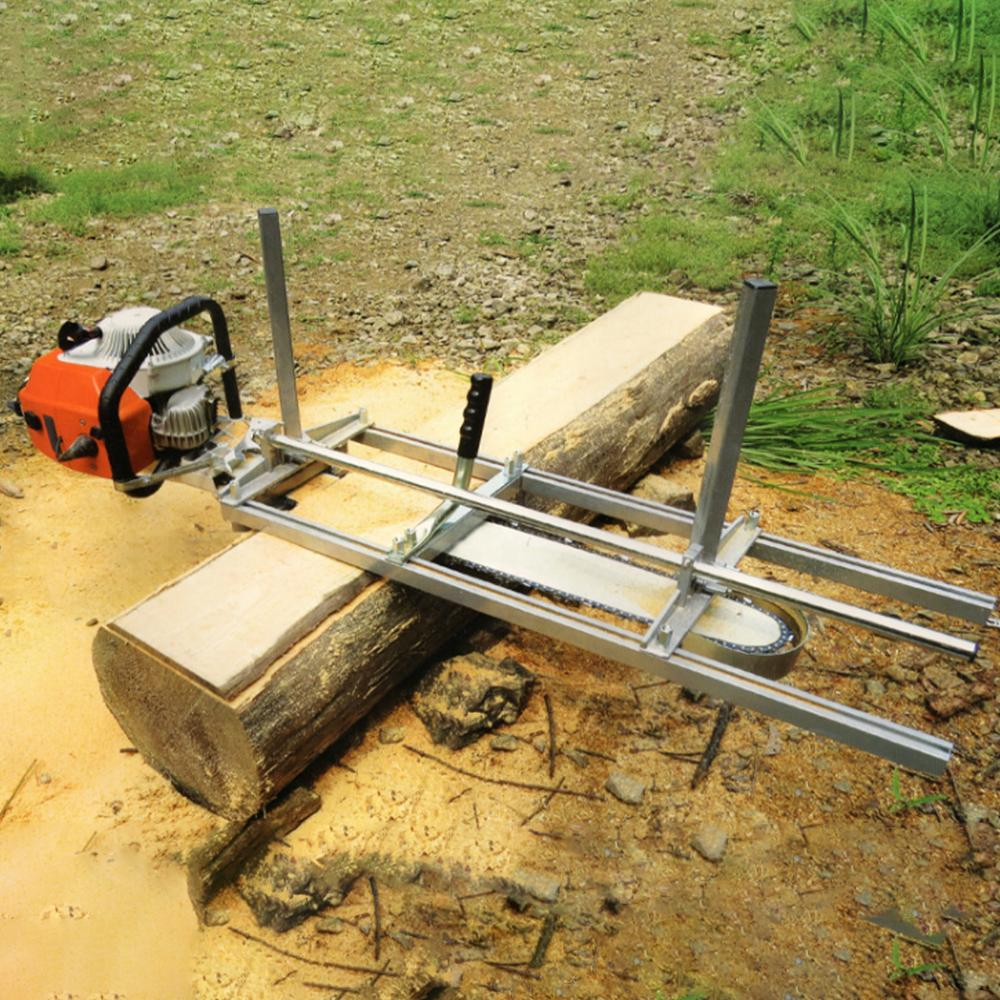 Honhill 48 Inch Portable Chain Saw Chainsaw Mill Planking Sets Planking Lumber Cutting Tool +14